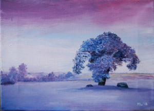 """Üksik puu"" - õli 2018 / 24x33 cm"