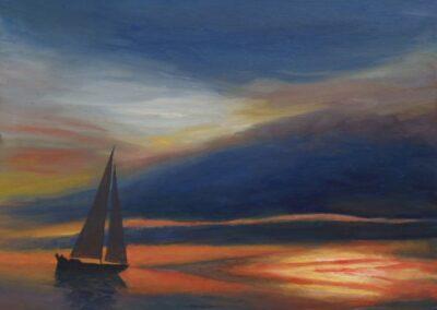"""Loneliness"" oil 2008 / 46x38 cm"