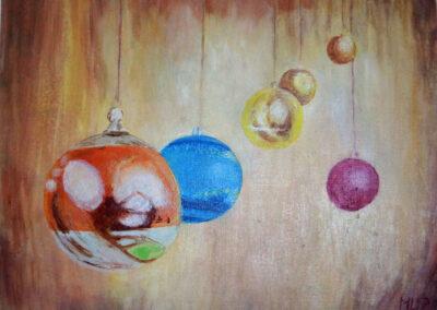 """Christmas decorations"" oil 2017 / 40x50 cm"