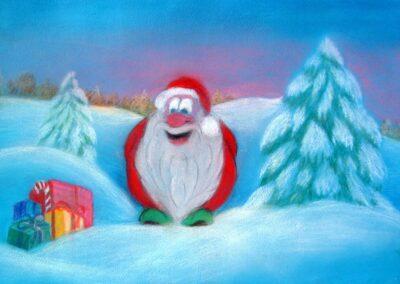 """Christmas Dwarf"" pastel 2011 / 49x32 cm"