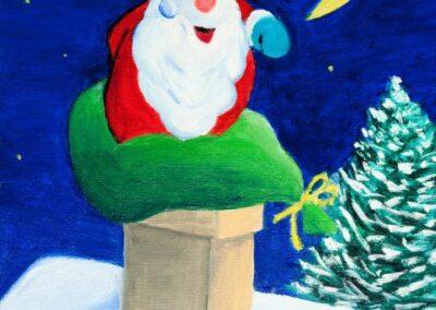 """Santa Claus"" oil 2006 / 24x33 cm"