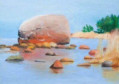 """Stones"" oil 2009 / 35x27 cm / sold for 2600 €"