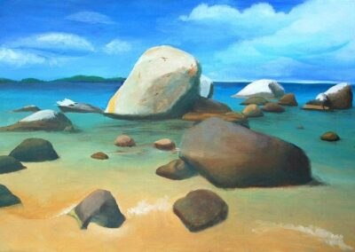 """""""Rocky beach"""" oil 2009 / 70x50 cm / sold for 3500 €"""