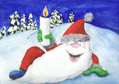 """""""Fun Dwarf"""" watercolor 2009 / 30x22 cm"""