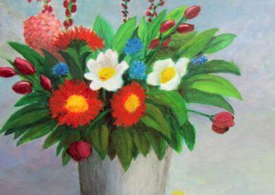 """""""Flower bouquet"""" oil 2011 / 38x46 cm"""