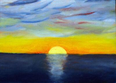 """""""Sunset"""" oil 2014 / 24x18 cm"""