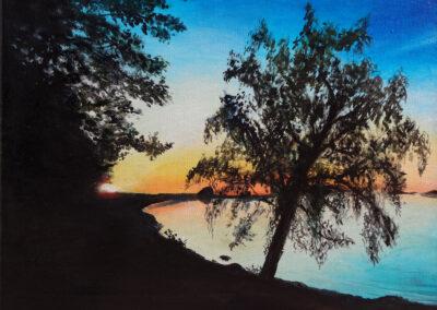"""""""Sunset in Käsmus"""" oil 2016 / 33x45 cm"""