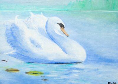 """Swan"" oil 2004 / 35x27 cm"
