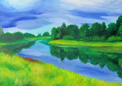 """""""Pärnu River"""" oil 2012 / 50x40 cm"""
