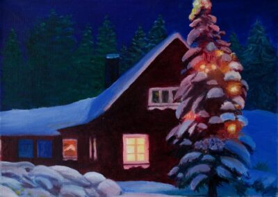 """""""Holy Night"""" oil 2010 / 33x24 cm / Gifted"""