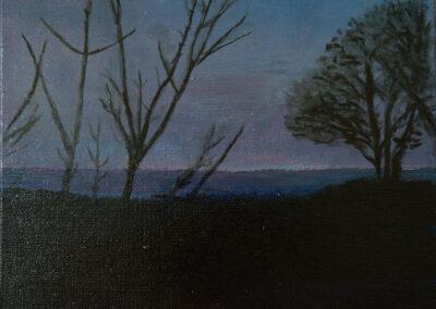 """Trees"" oil 2018 / 18x24 cm"