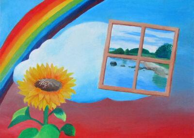 """""""Framed longing"""" oil 2013 / 61x50 cm"""