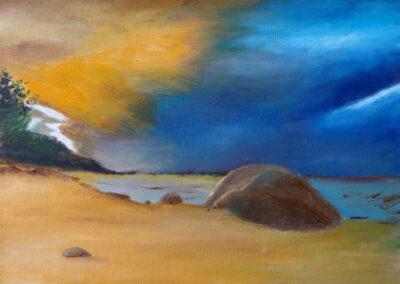 """""""Beach"""" oil 2016 / 33x24 cm"""