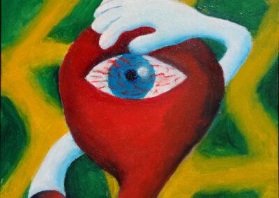 """""""Secret Eye"""" oil 2014 / 35x27 cm"""
