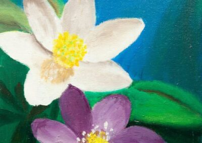 """Blue flowers"" oil 2007 / 18x24 cm"