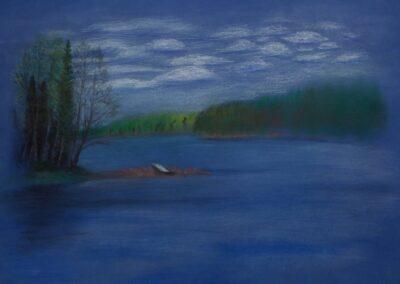 """The blue silence"" pastel 2010 / 65x45 cm"