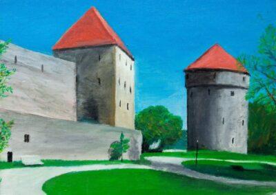 """""""Tallinn Old Town"""" oil 2007 / 35x27 cm"""
