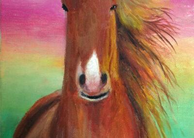 """Fire horse"" oil 2016 / 30x20 cm"