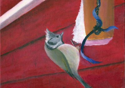 """""""The Crested Tit"""" oil 2010 / 24x18 cm"""