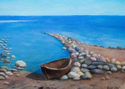 """Viinistu beach"" oil 2006 / 35x27 cm"