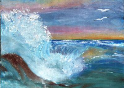 """""""Foamy Sea"""" oil 2002"""